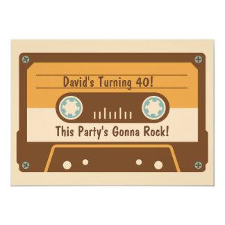 Retro Cassette Tape Party Invitation