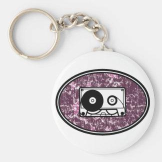 Retro Cassette Tape Pink Keychains