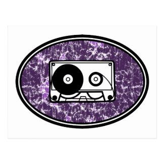 Retro Cassette Tape Purple Postcard