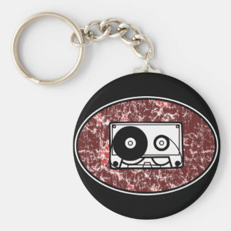 Retro Cassette Tape Red Key Chains