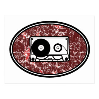 Retro Cassette Tape Red Post Cards