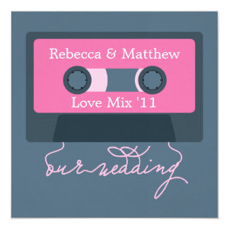Retro Cassette Tape Wedding Card