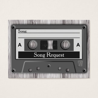 Retro Cassette Tape Wedding Song Request Business Card