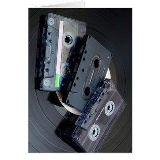 Retro Cassette Tapes Card