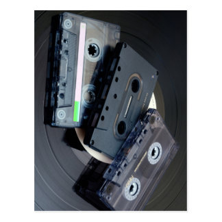 Retro Cassette Tapes Postcard