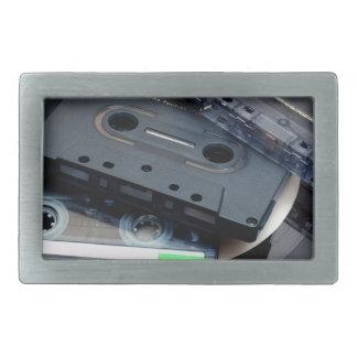 Retro Cassette Tapes Rectangular Belt Buckles