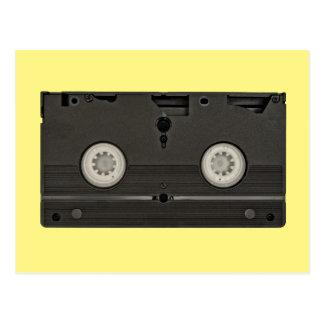 Retro Cassette VHS Tape Photo Postcard