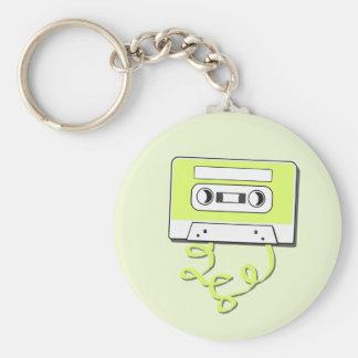 Retro Casssette Basic Round Button Keychain