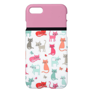 Retro Cat Lovers iPhone 7 Case