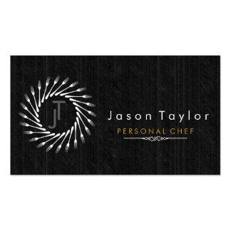 Rétro cercle en bois noir de approvisionnement de carte de visite standard