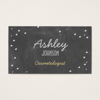 Retro Chalkboard Art Confetti Business Card