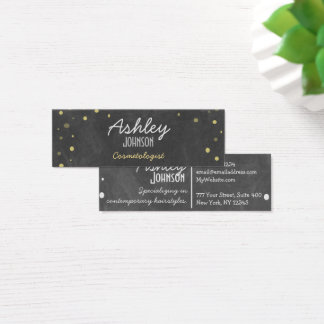 Retro Chalkboard Art Glitter Mini Business Card