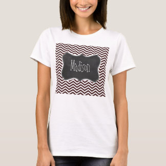 Retro Chalkboard look; Dark Sienna Chevron T-Shirt
