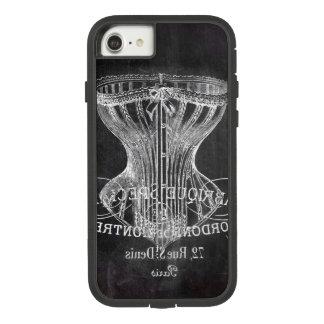 Retro chalkboard scripts victorian lingerie corset Case-Mate tough extreme iPhone 8/7 case