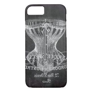 Retro chalkboard scripts victorian lingerie corset iPhone 8/7 case