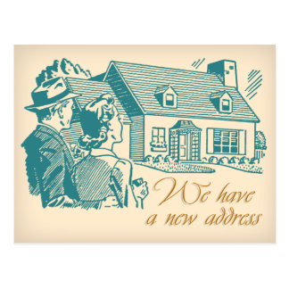 Retro Change of Address Postcard