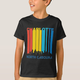 Retro Charlotte Skyline T-Shirt