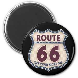 Retro Checker 66 Magnet