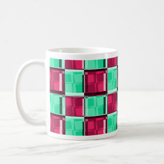 Retro Checks Deluxe Coffee Mug