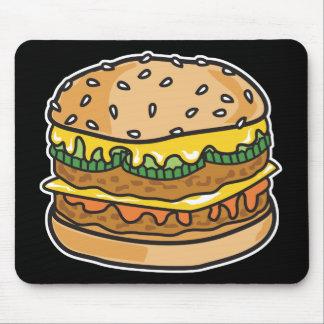 retro cheese hamburger mouse pad