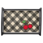 Retro Cherry Gingham Snack Tray Gift