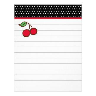 Retro Cherry Letterhead Paper