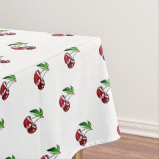 Retro Cherry Linen Tablecloth