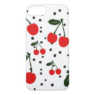 Retro Cherry Print iPhone 7 Case with Black Dot