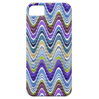 Retro Chevron and Wavy Stripes Pattern iPhone 5 Case