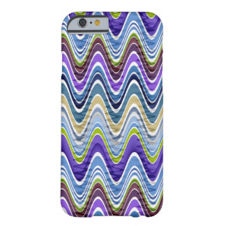 Retro Chevron and Wavy Stripes Pattern Barely There iPhone 6 Case