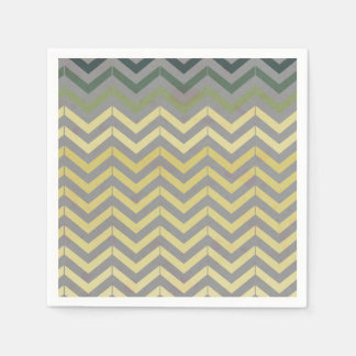 Retro Chevron Pattern Paper Napkin
