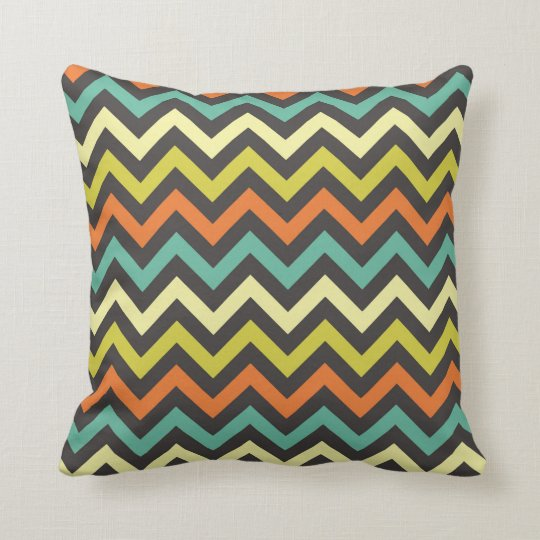 Retro chevron pillow