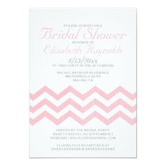 Retro Chevron Zigzag Bridal Shower Invitations