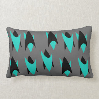 Retro Chevrons Lumbar Pillow