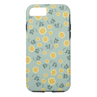 Retro chic buttercup floral flower girly pattern iPhone 7 case