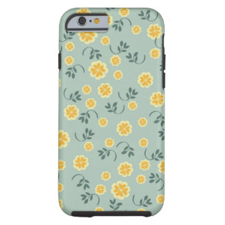 Retro chic buttercup floral flower girly pattern tough iPhone 6 case