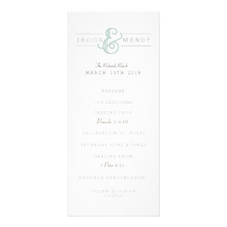 Retro Chic | Modern Wedding Program Customized Rack Card