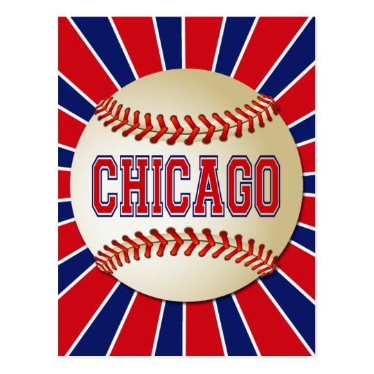 RETRO CHICAGO BASEBALL POSTCARD