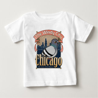 Retro Chicago Pigeon T-shirts