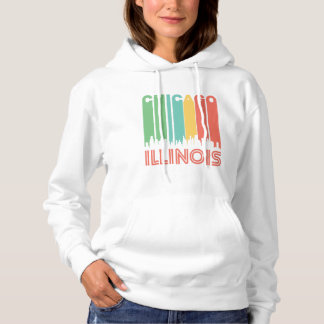 Retro Chicago Skyline Hoodie