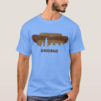 Retro Chicago Skyline-Men T-Shirt