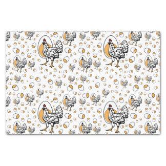 Retro Chickens Tissue Paper