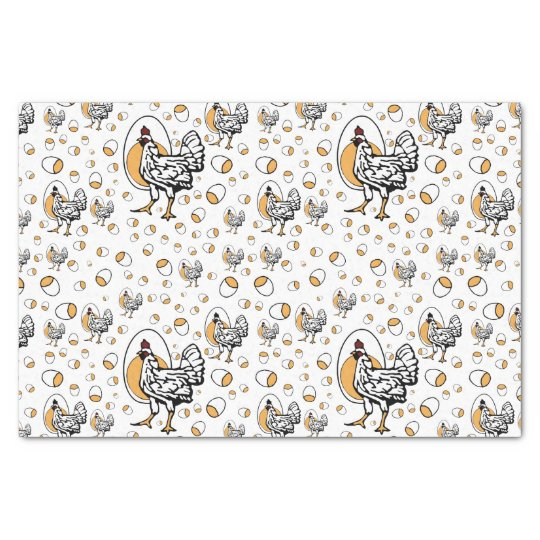 Retro Chickens Tissue Paper
