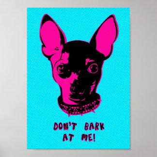 Retro Chihuahua Illustration Poster