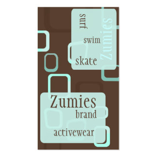 Retro Chocolate Business Cards