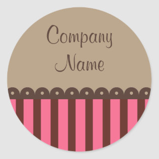 Retro Chocolate Business Stickers
