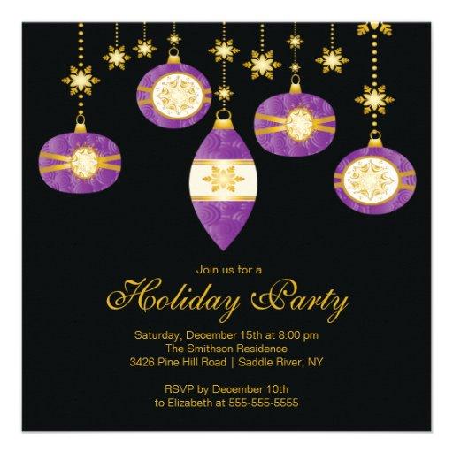 Retro Christmas Party Invitations: Retro Christmas Balls Christmas Party Invitation