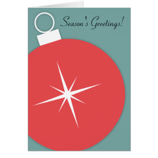 Retro Christmas Card - Starburst Ornament