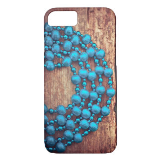 Retro Christmas Decoration, Beaded, Wooden Texture iPhone 8/7 Case