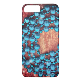 Retro Christmas Decoration, Beaded, Wooden Texture iPhone 8 Plus/7 Plus Case
